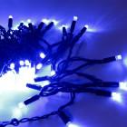 Морозостойкая мерцающая нить 120 синих светодиодов
