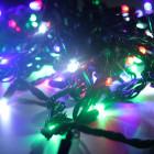 Морозостойкая нить 120 разноцветных светодиодов
