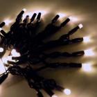 Морозостойкая нить 120 тёплых белых светодиодов
