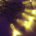 Морозостойкая нить 120 желтых светодиодов
