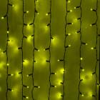 Морозостойкий занавес 380 желтых светодиодов