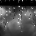 """Морозостойкая мерцающая гирлянда """"Сосульки"""" 100 белых светодиодов"""