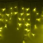 """Морозостойкая гирлянда """"Сосульки"""" 100 жёлтых светодиодов"""