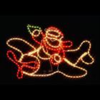 Фигура из дюралайта Санта-Клаус на самолете I-R-P8SP-C