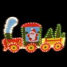 Фигура из дюралайта Рождественский поезд I-R-PP5TN