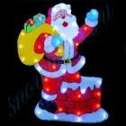 """Световое панно """"Санта-Клаус на крыше"""" со светодиодами PKQE080108"""