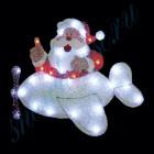 """Световое панно """"Санта-Клаус на самолете"""" со светодиодами PKQE08SW35/1"""