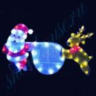 """Световое панно """"Санта-Клаус на олене"""" со светодиодами PKQE13033"""