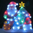 """Световое панно """"Санта, снеговики и елка"""" со светодиодами PKQE13041"""