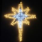 Фигура из дюралайта Рождественская звезда RL-162-BS-W/WW