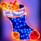 Световое панно Рождественский носок YY100223F