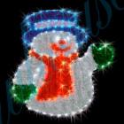 Световое панно Снеговик YY101019E