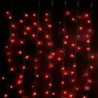 Занавес с красными микролампочками CL625-E-SR