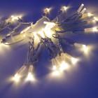 Морозостойкая мерцающая нить 120 белых светодиодов