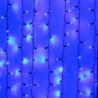 Морозостойкий занавес 1140 синих светодиодов