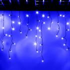 """Морозостойкая мерцающая гирлянда """"Бахрома"""" 100 синих светодиодов"""