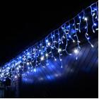 """Морозостойкая гирлянда """"Бахрома"""" 208 синих и белых светодиодов"""