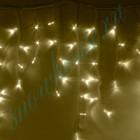 """Морозостойкая гирлянда """"Бахрома"""" 100 тёплых белых светодиодов"""
