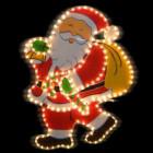 Фигура из дюралайта Санта-Клаус с мешком I-R-PP5SAWB