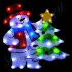 """Световое панно """"Снеговик с елочкой"""" со светодиодами PKQE080148"""