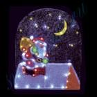 """Световое панно """"Санта-Клаус на крыше"""" со светодиодами PKQE08DD002"""
