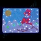 """Световое панно """"Снеговик на лыжах"""" со светодиодами PKQE08DD004"""