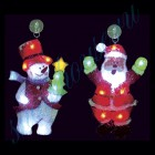 """Световое панно """"Снеговик и Санта-Клаус"""" со светодиодами PKQE08SWS21/31/1"""