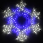 Фигура из дюралайта Снежинка декоративная RL378-SF-B/W
