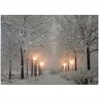 Картина  Зимняя аллея