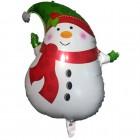 Воздушный шарик Снеговик