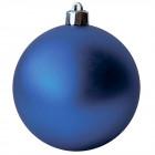 Шарик 10 см синий матовый
