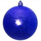 Шарик 10 см синий глянец