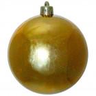Шарик 10 см золотой глянцевый